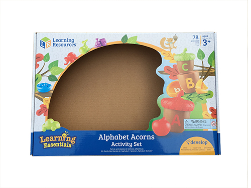 Alphabet acorns packing color printing